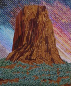 """Pathfinder"" Devils Tower Devils Tower National Park By Janey Argyle"